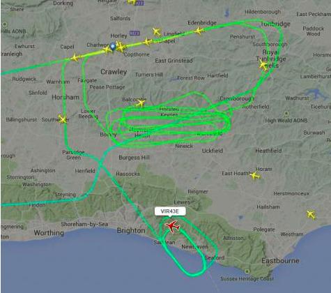 Flight radar visual