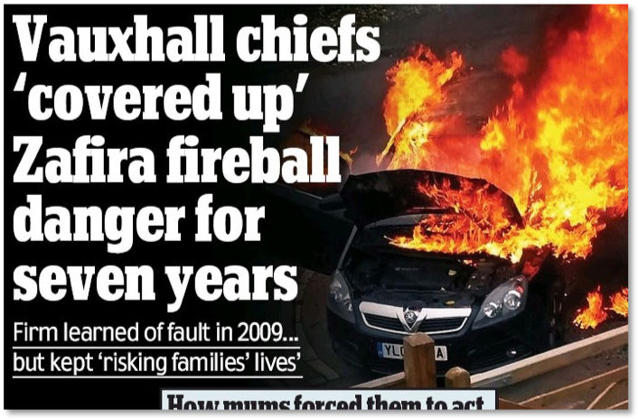 headline about Zafira fires