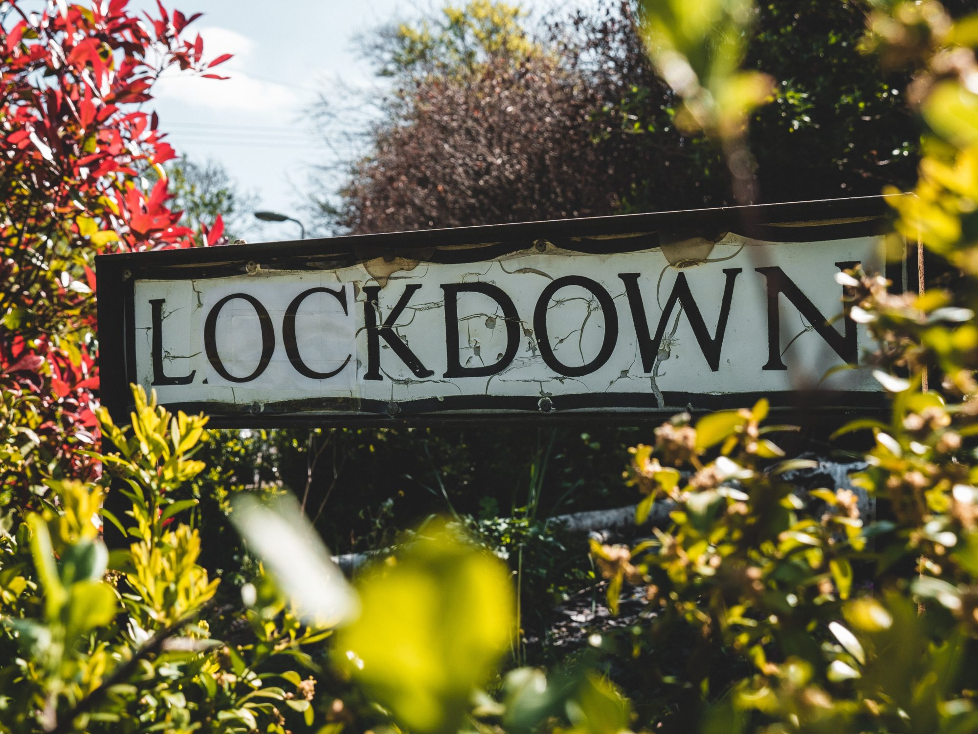 Lockdown road sign